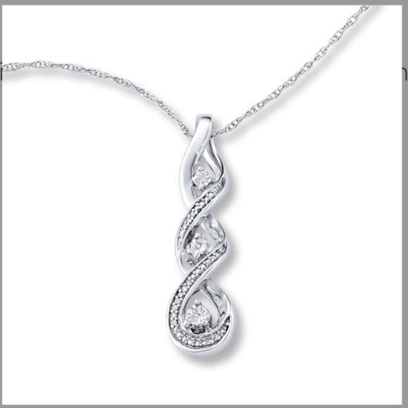 Kay Jewelers Jewelry 3 Stone Infinity Twist Pendant Poshmark